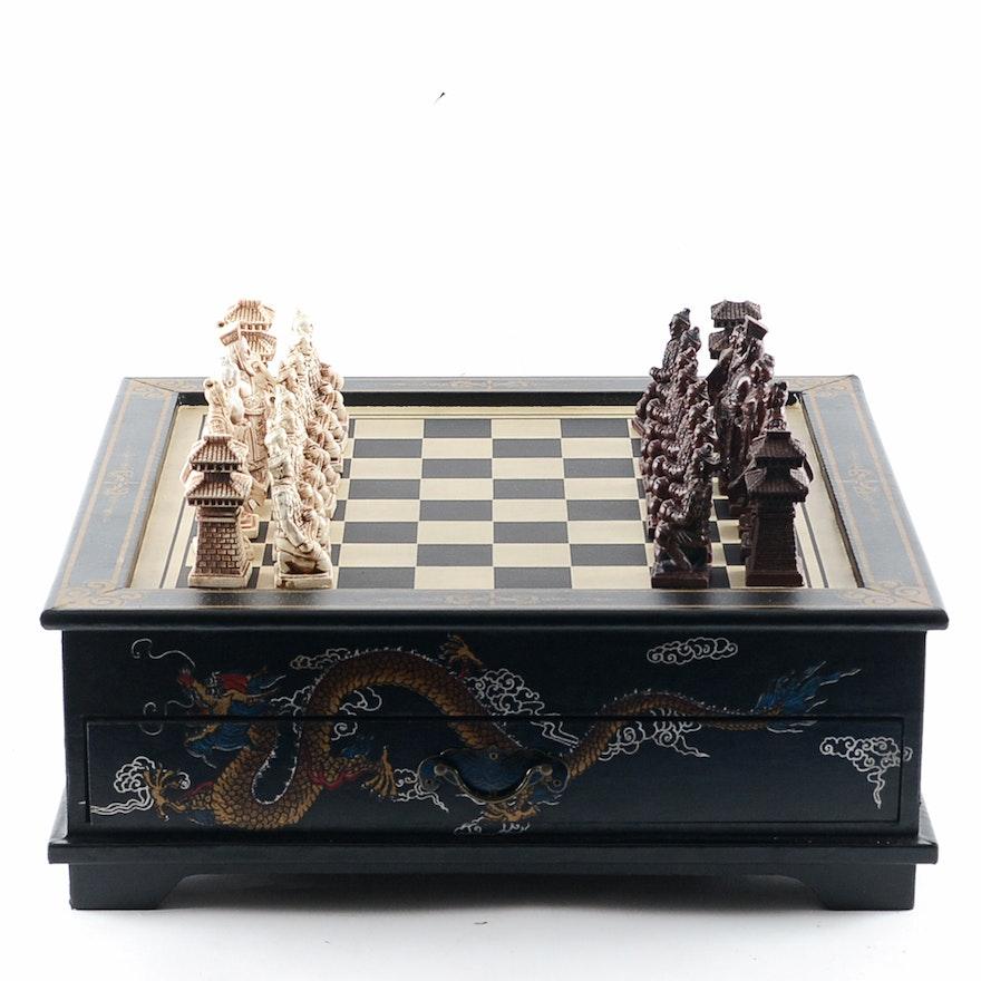 Chinese Inspired Chess Set Ebth