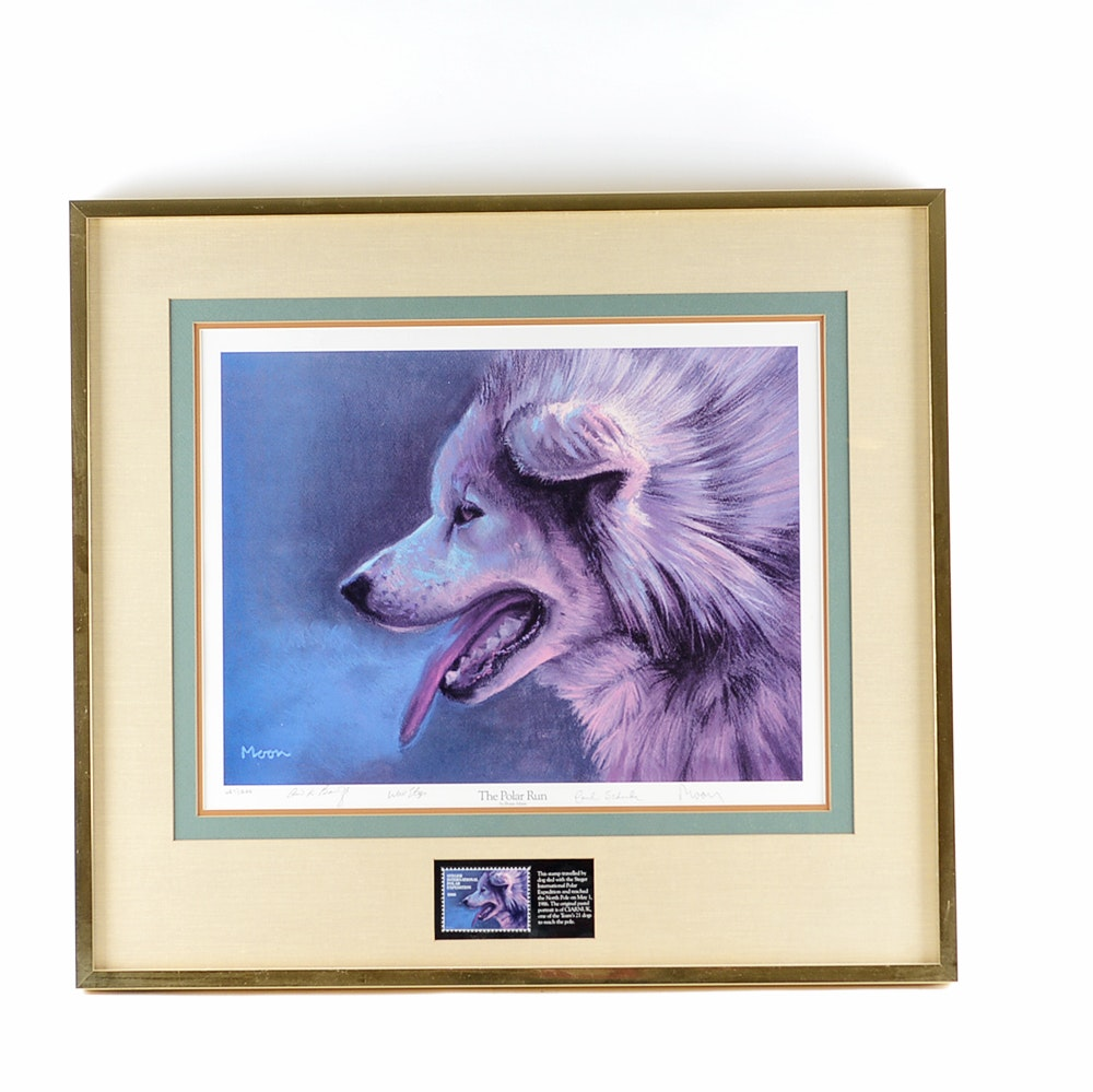 """The Polar Run'"" Limited Edition Print By Bryan Moon"