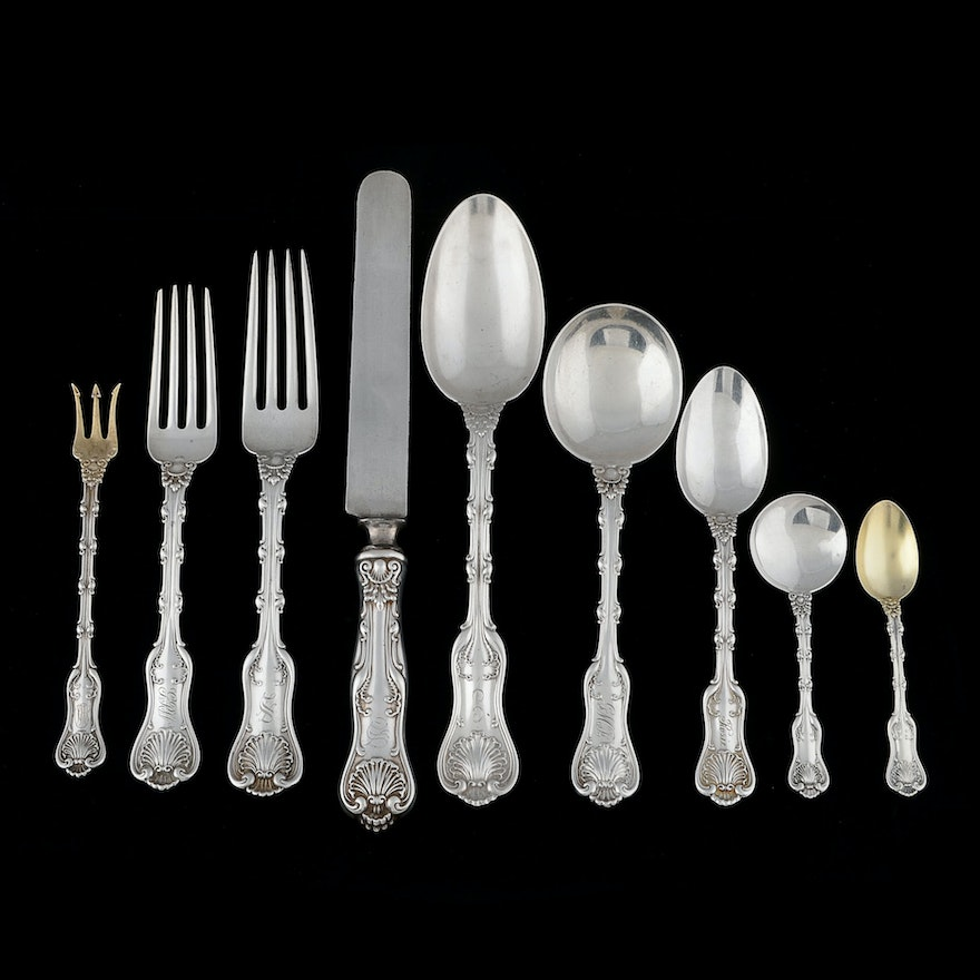 Whiting Division Quot Imperial Queen Quot Sterling Flatware Set Ebth
