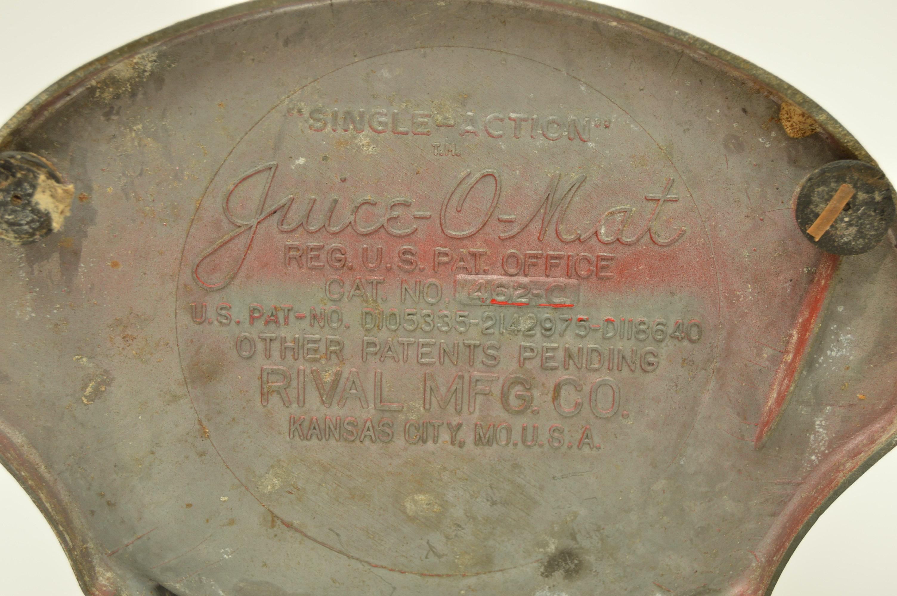 Vintage Juice O Mat Juicer Ebth