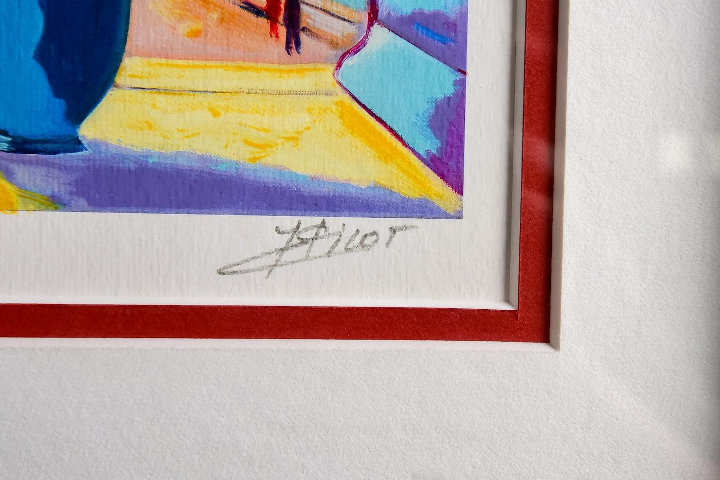 Fenetre sur les quais et paris seriolithograph by jean for Fenetre 16 9