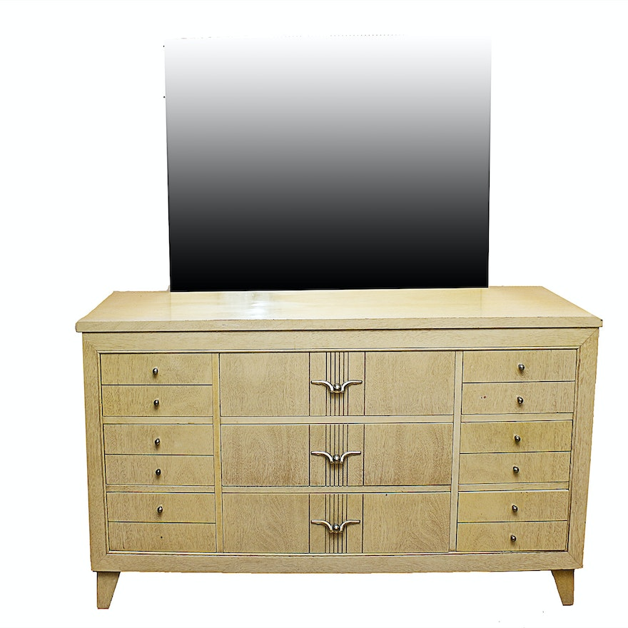 Very best L.A. Period Furniture c. 1950s Mid-Century Dresser and Mirror : EBTH WT94
