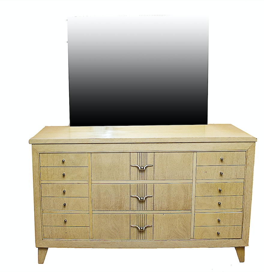L.A. Period Furniture c. 1950s Mid-Century Dresser and Mirror : EBTH