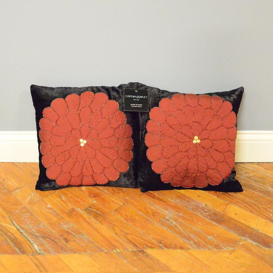 Pair Of New Cynthia Rowley Throw Pillows EBTH Simple Cynthia Rowley Decorative Pillows