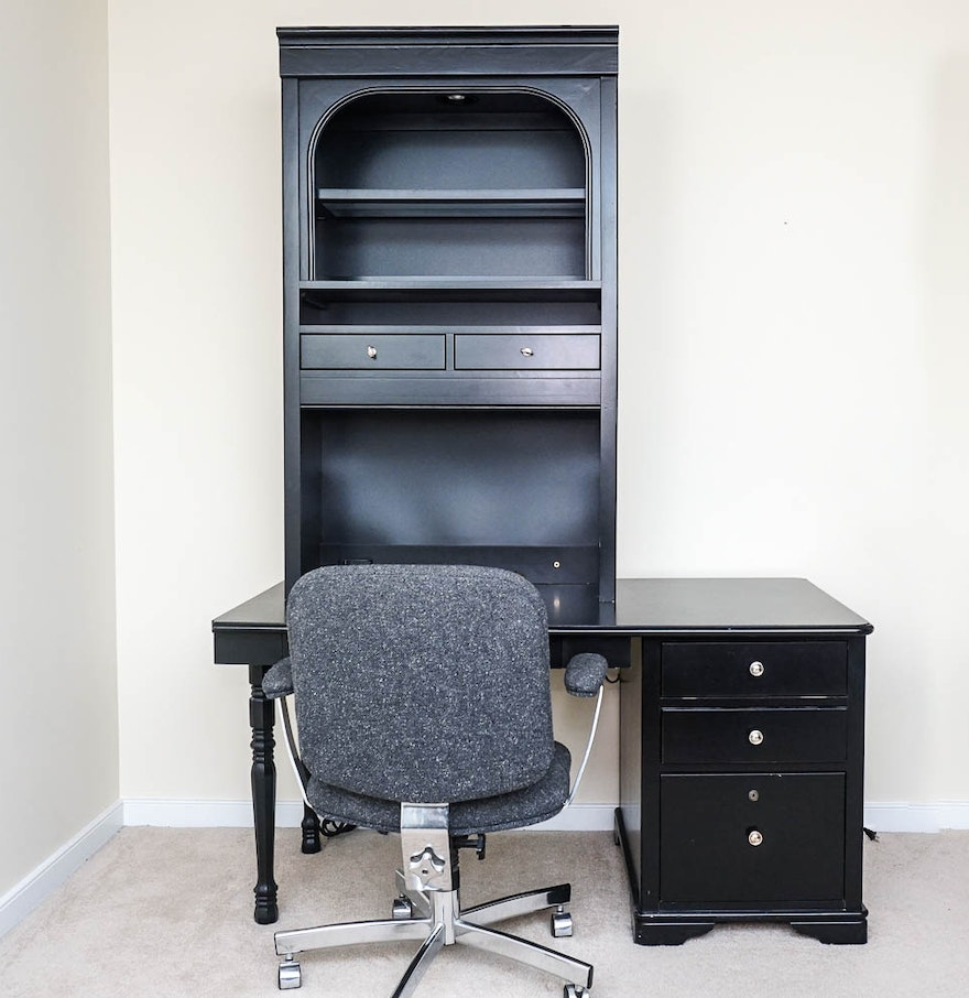 Stanley Furniture Desk And Office Chair Set Ebth
