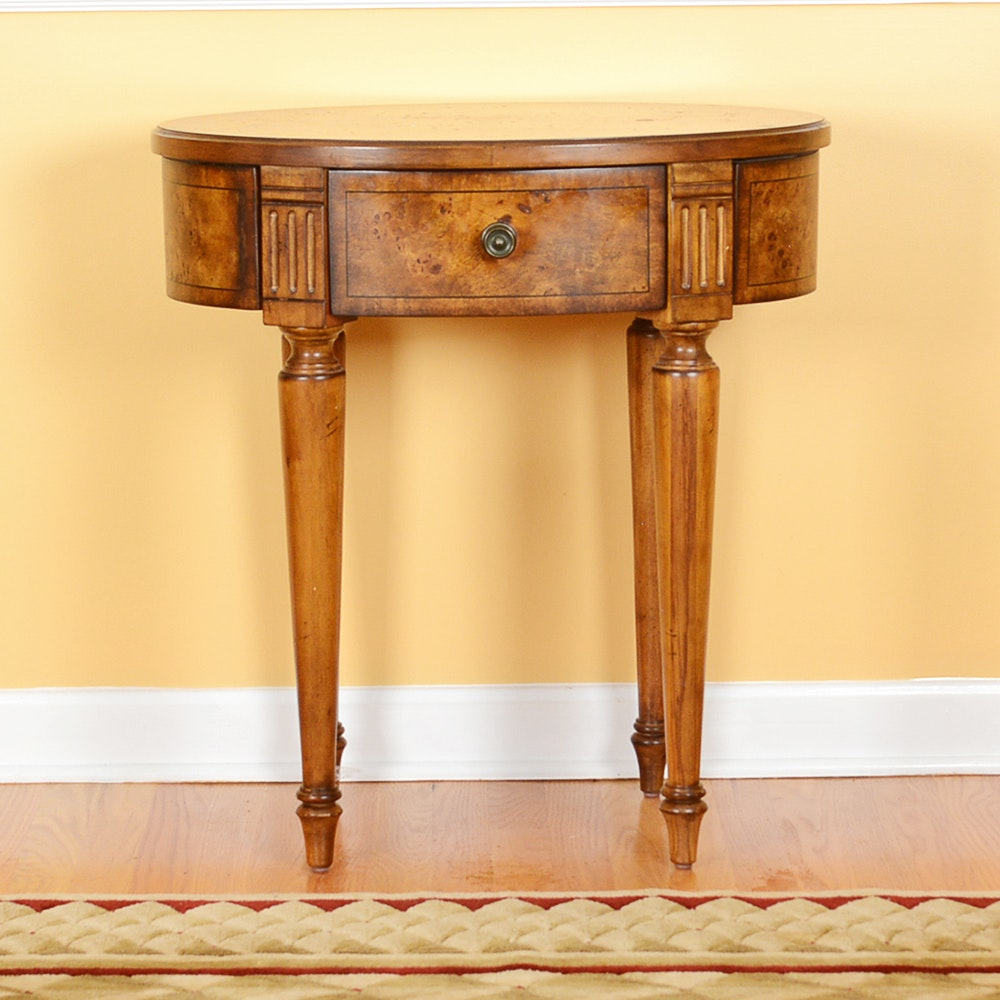 Burled Wood Accent Table