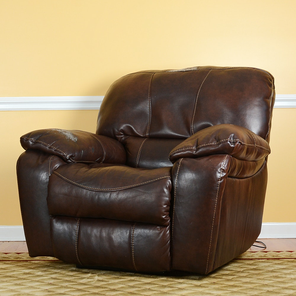 Electric Reclining Leather Armchair