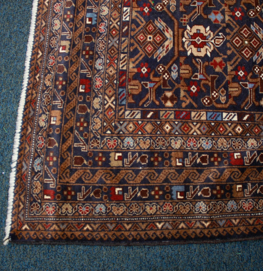 Handwoven Azerbaijan Wool Area Rug Ebth