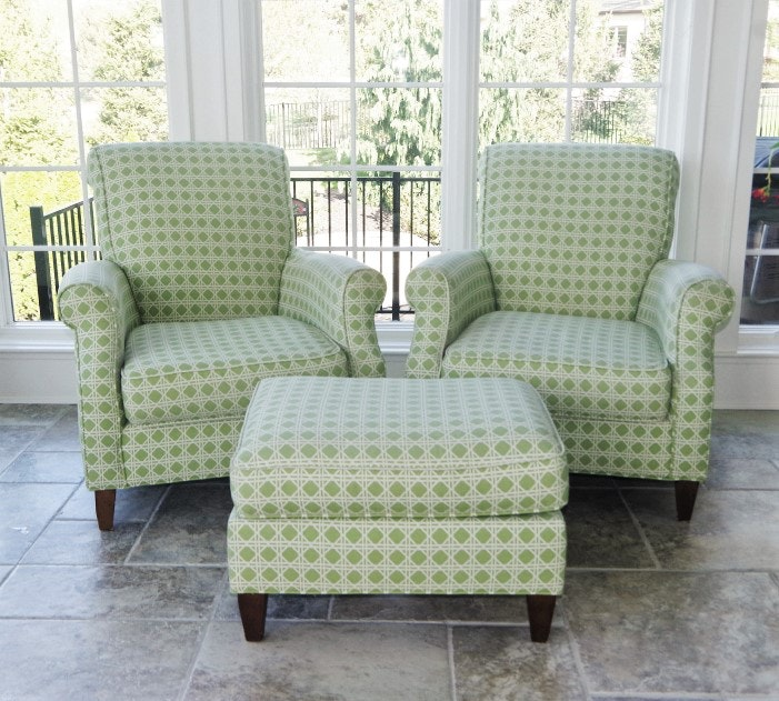 Pair of Green Century Furniture Armchairs