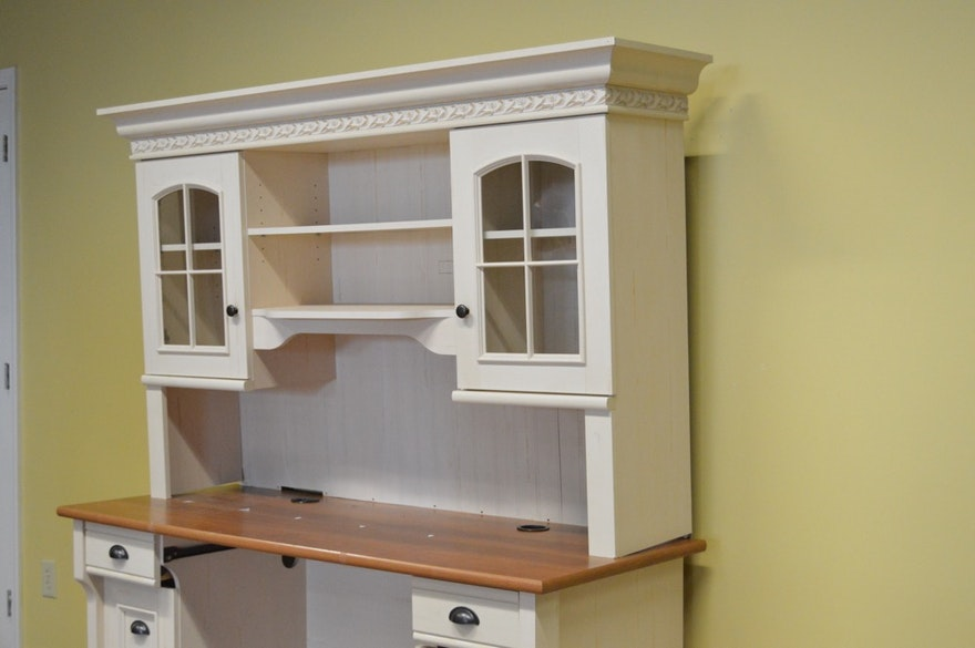 Christopher Lowell Shore Desk With Hutch Ebth