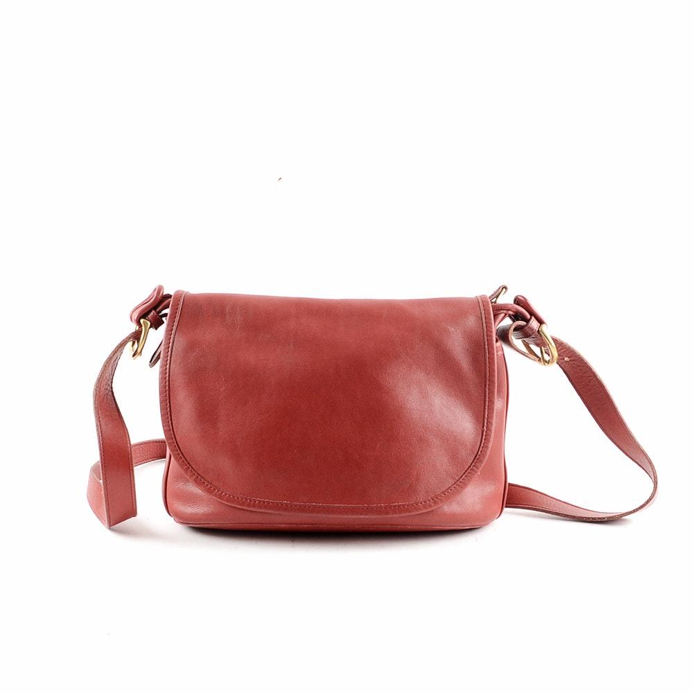 Coach Fletcher Red Leather Crossbody Handbag