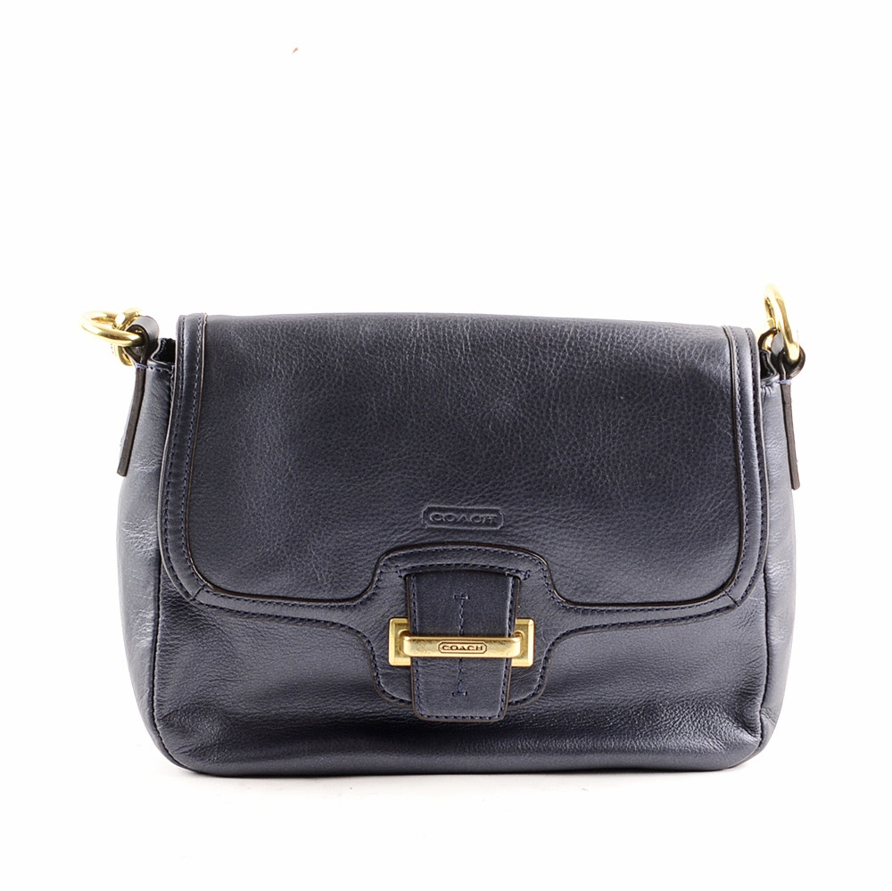 Coach Midnight Blue Leather Taylor Crossbody Handbag