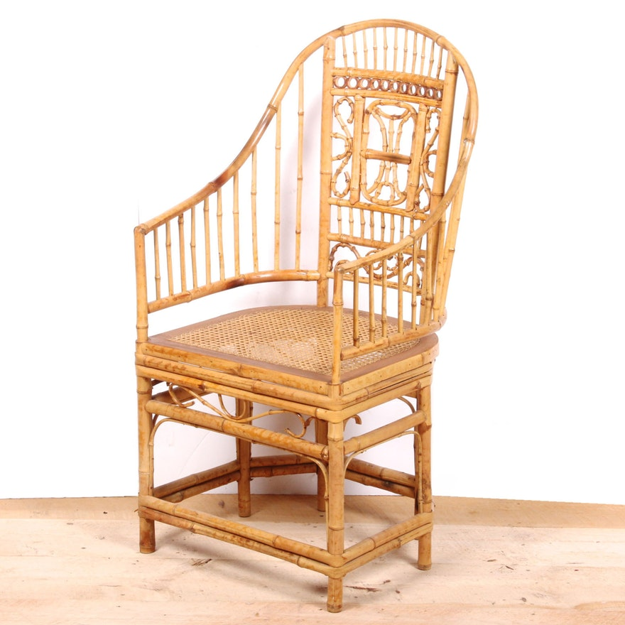 Bamboo Turned Chair: Vintage Bamboo And Cane Chair By Thomasville : EBTH