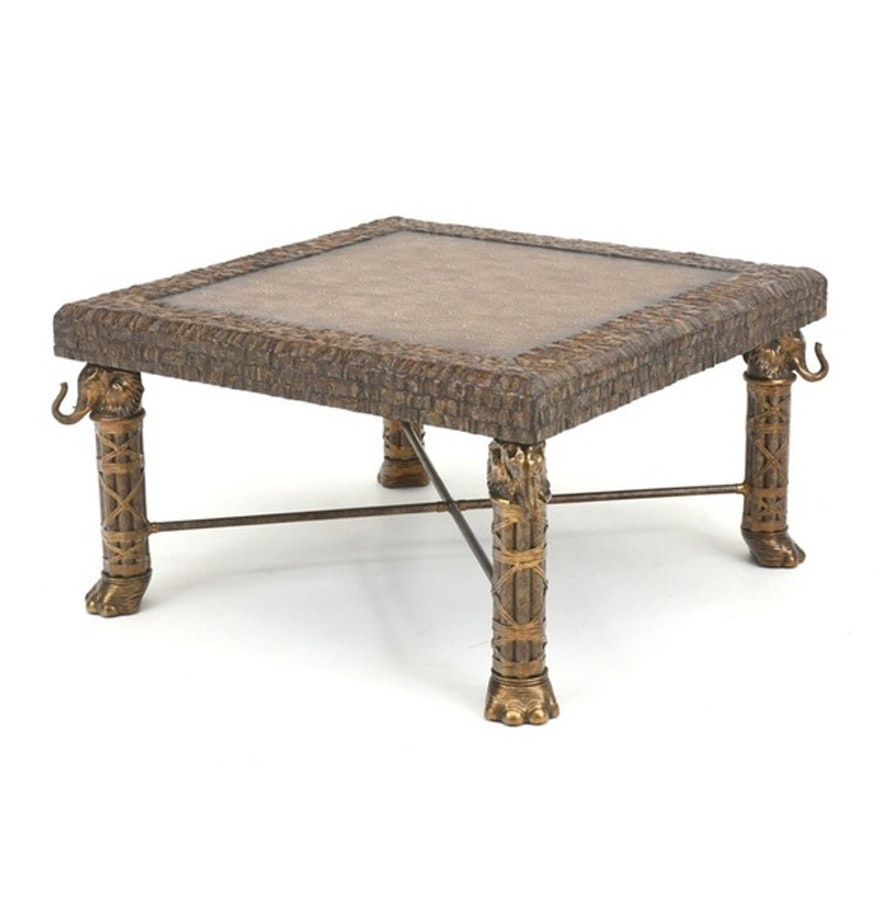 maitland smith elephant coffee table ebth
