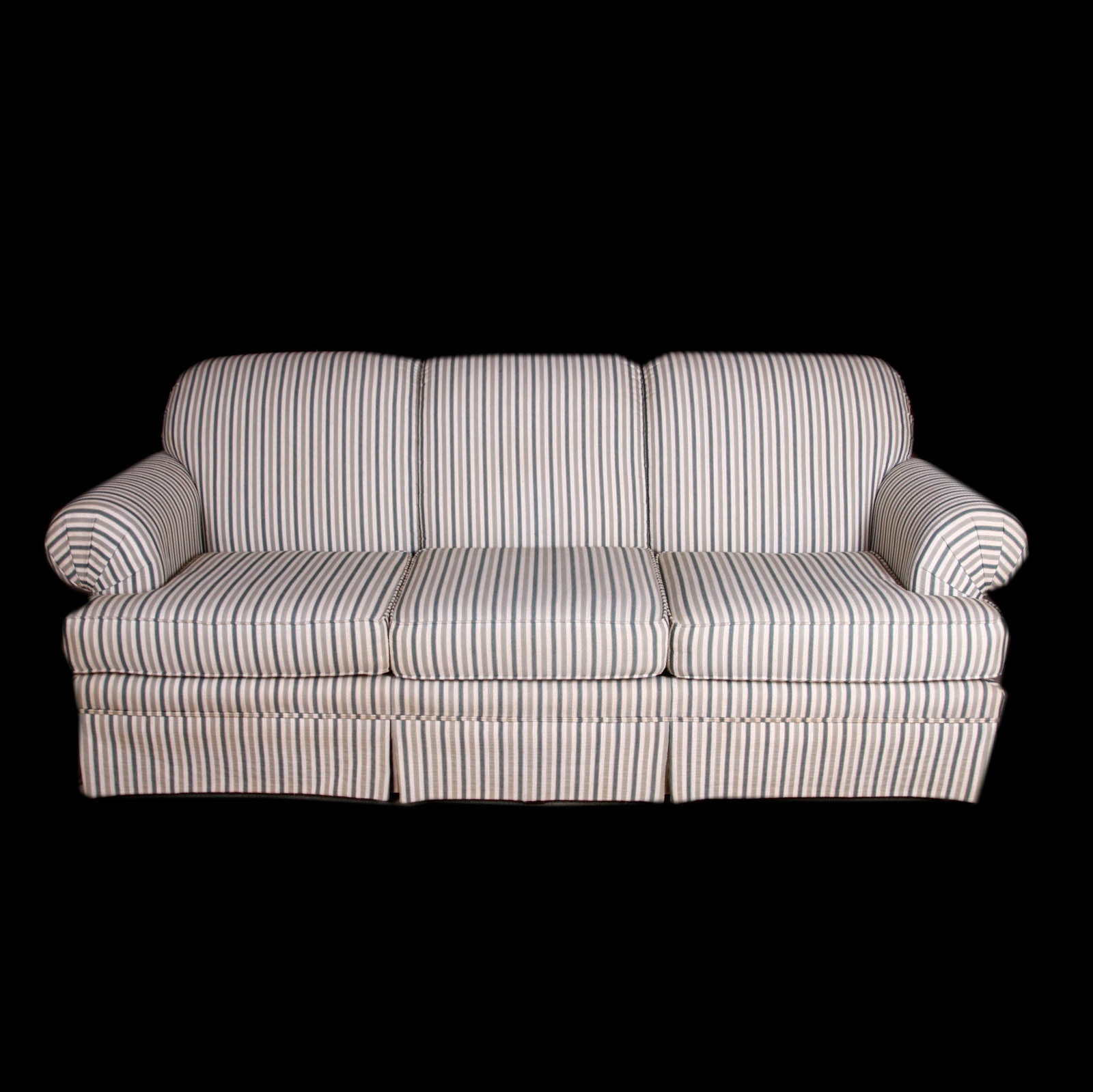 Broyhill Striped Sofa; 1x1 ...