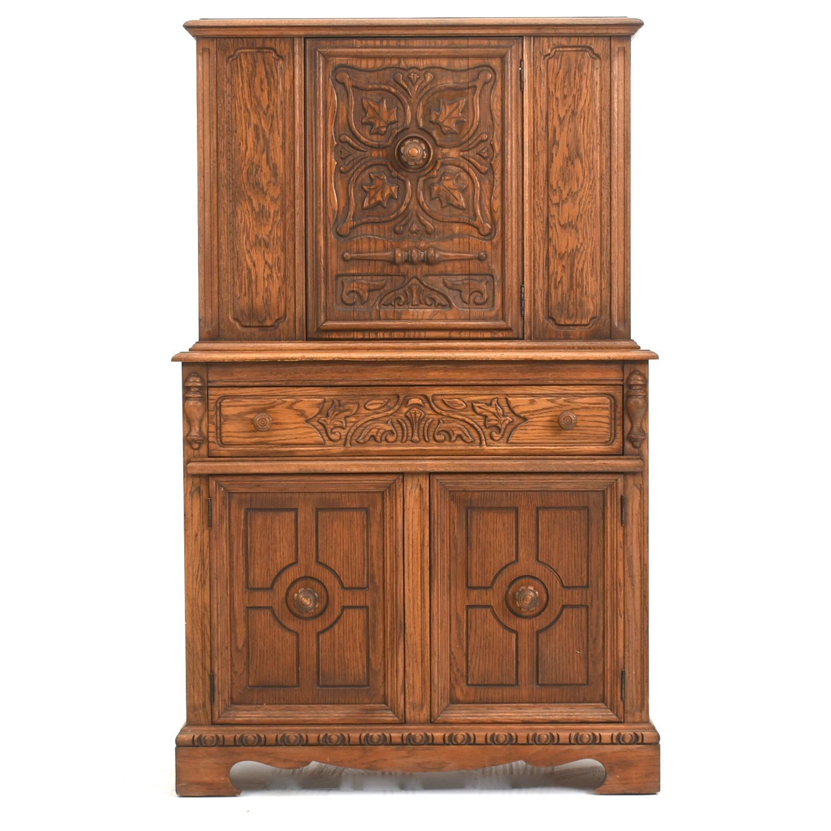 Carved Oak Cabinet