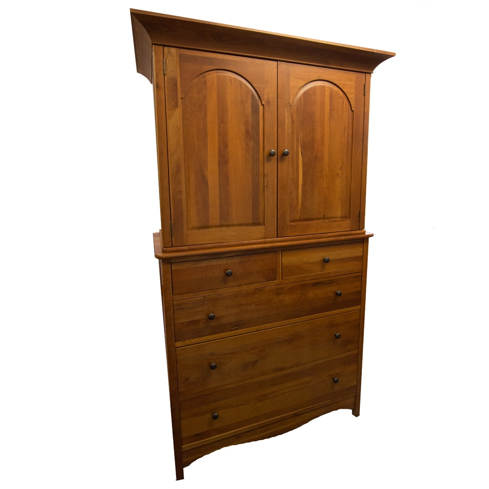 Richardson Brothers Cherry Media Cabinet ...