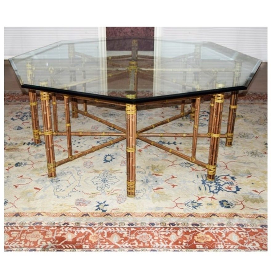 Bamboo Kitchen Table Mcguire octagonal bamboo dining table with beveled glass top ebth mcguire octagonal bamboo dining table with beveled glass top workwithnaturefo