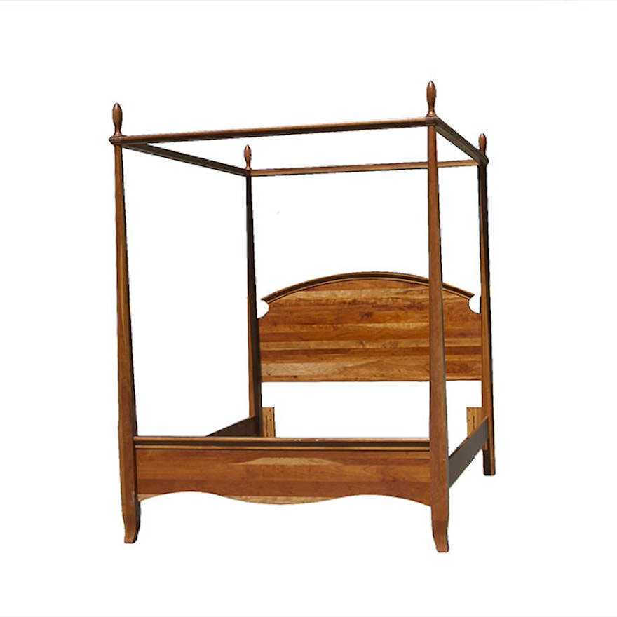 Richardson Brothers Cherry Queen Size Four Poster Bed : EBTH