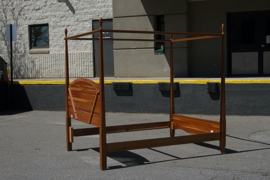 Richardson Brothers Cherry Queen Size Four Poster Bed | EBTH