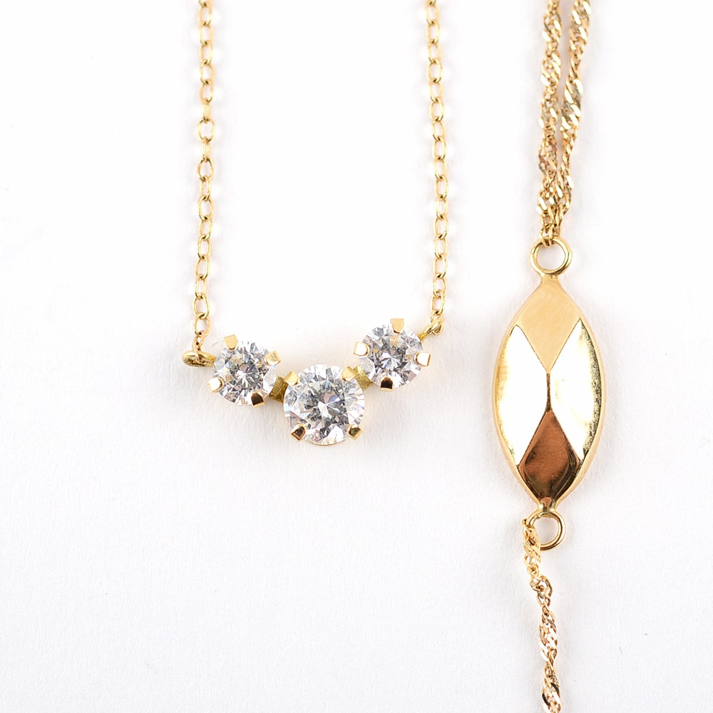 Pair of 14K Yellow Gold Chain Necklaces