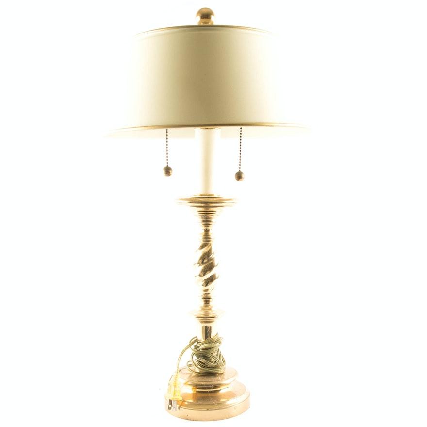 Brass Double Bulb Table Lamp Ebth