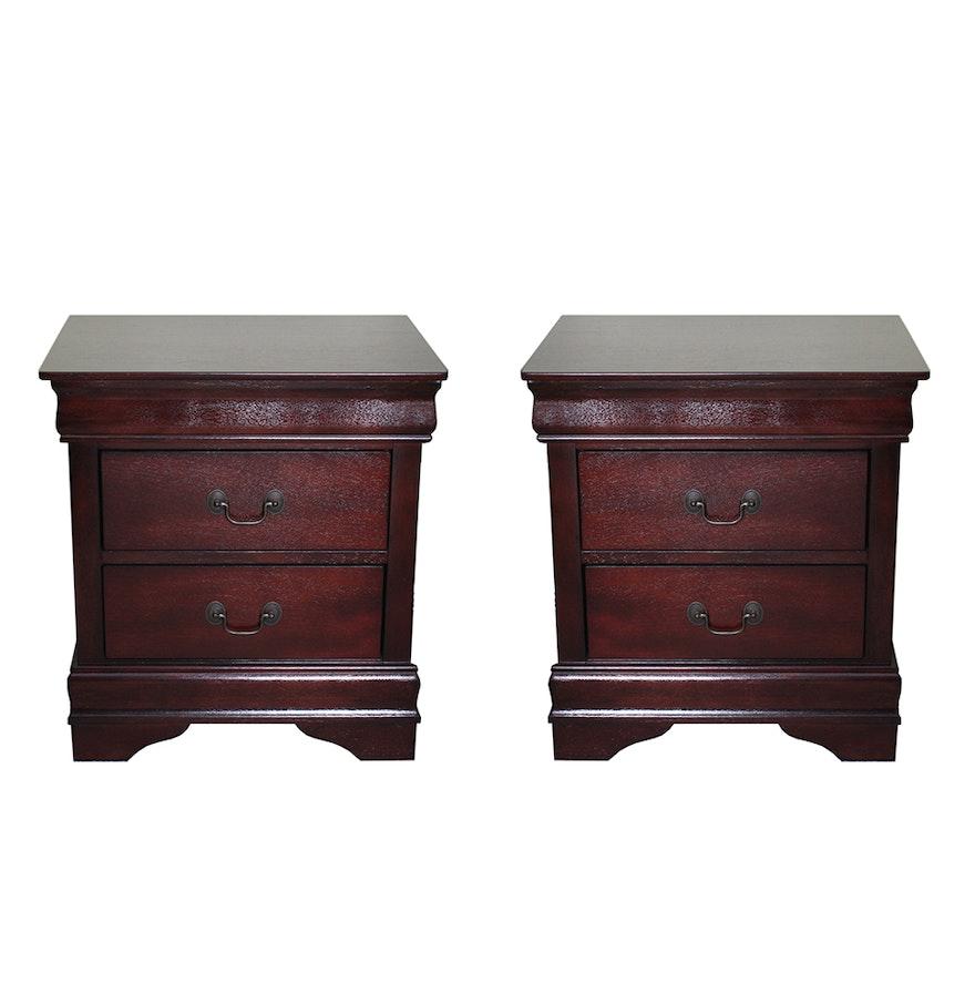 Pair Ashley Furniture Nightstands Ebth