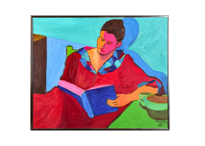 Original Tony Ortega Oil On Canvas Painting