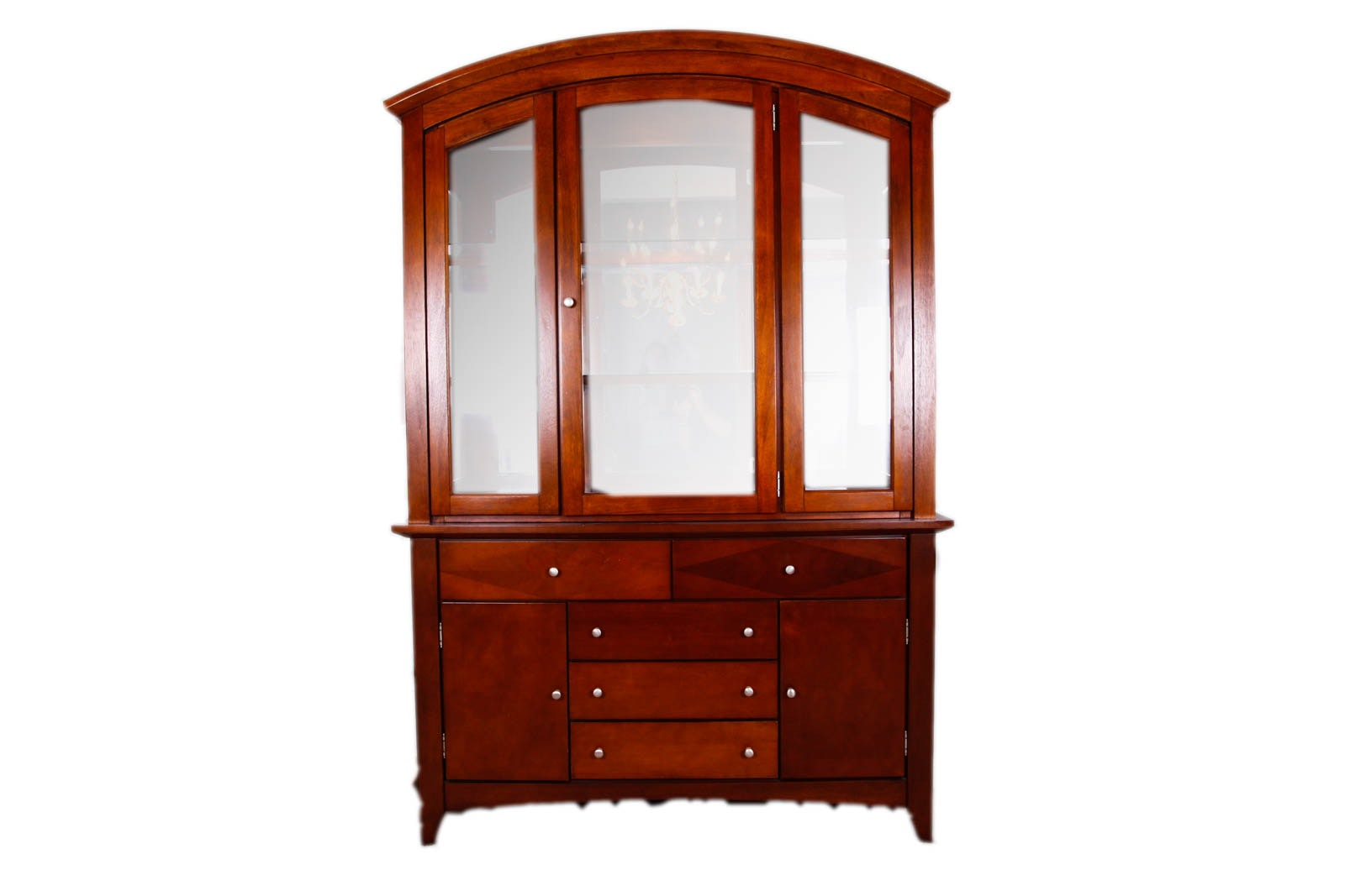 Cherry Stained Buffet and Hutch