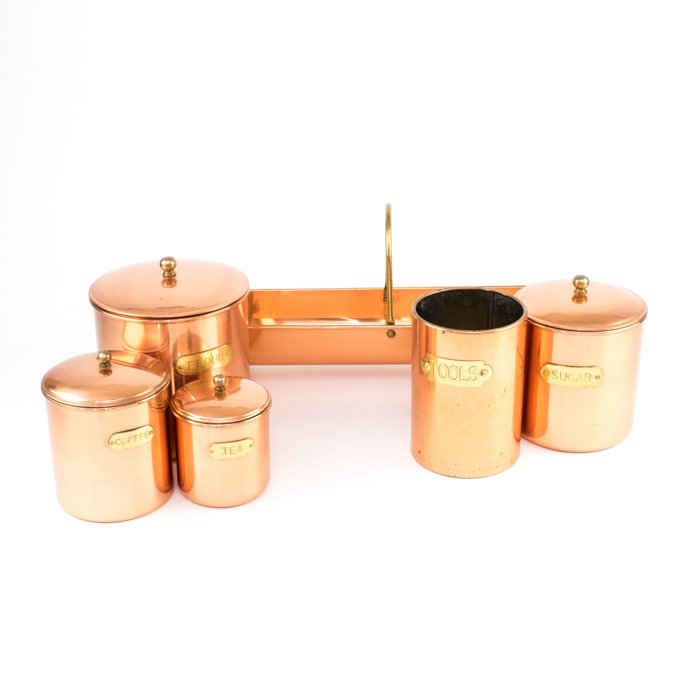 Copper Kitchen Canisters For Sale