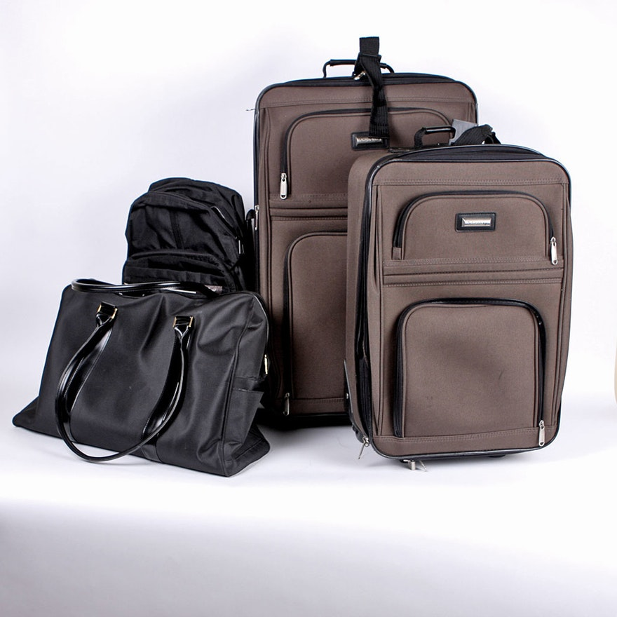 be2f32983ac4 Three Piece Advantage Luggage Set with Weekender and Eddie Bauer Backpack    EBTH