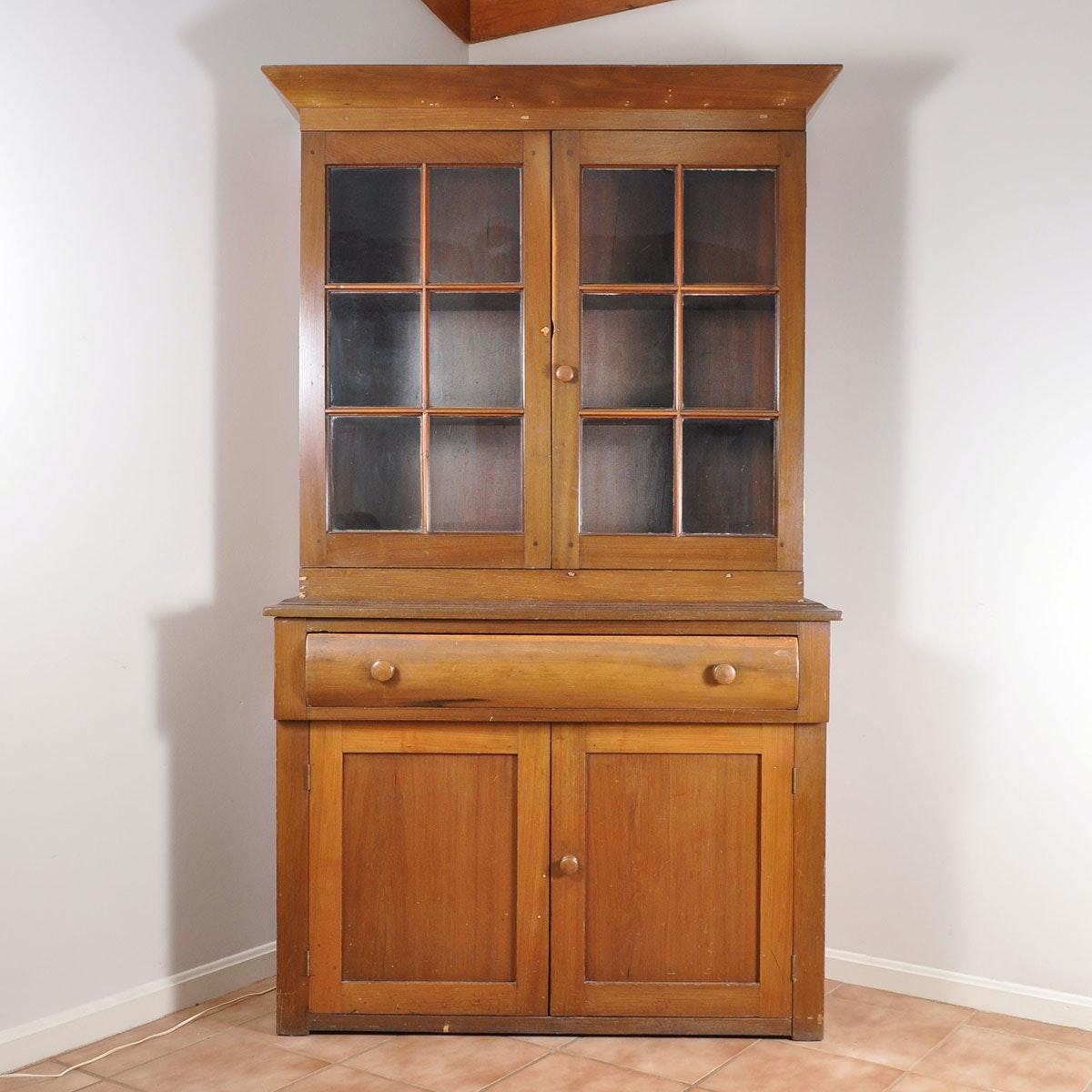 Antique Jackson Press Poplar Cabinet
