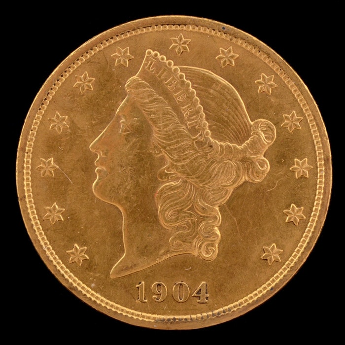 An 1904 $20 Liberty Head Gold Coin