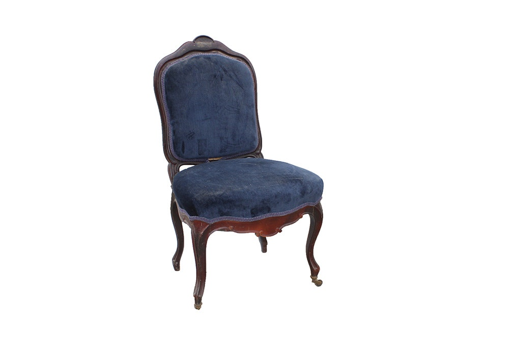 Antique Blue Upholstered Chair