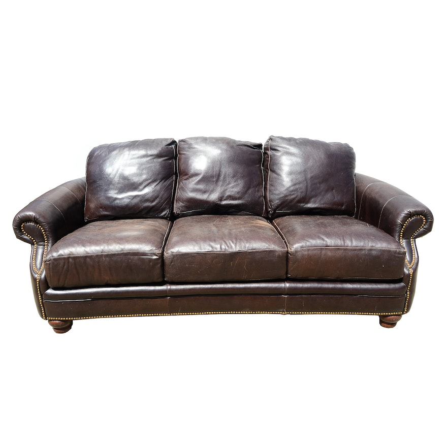 Leather Sofa By Clayton Marcus For La Z Boy