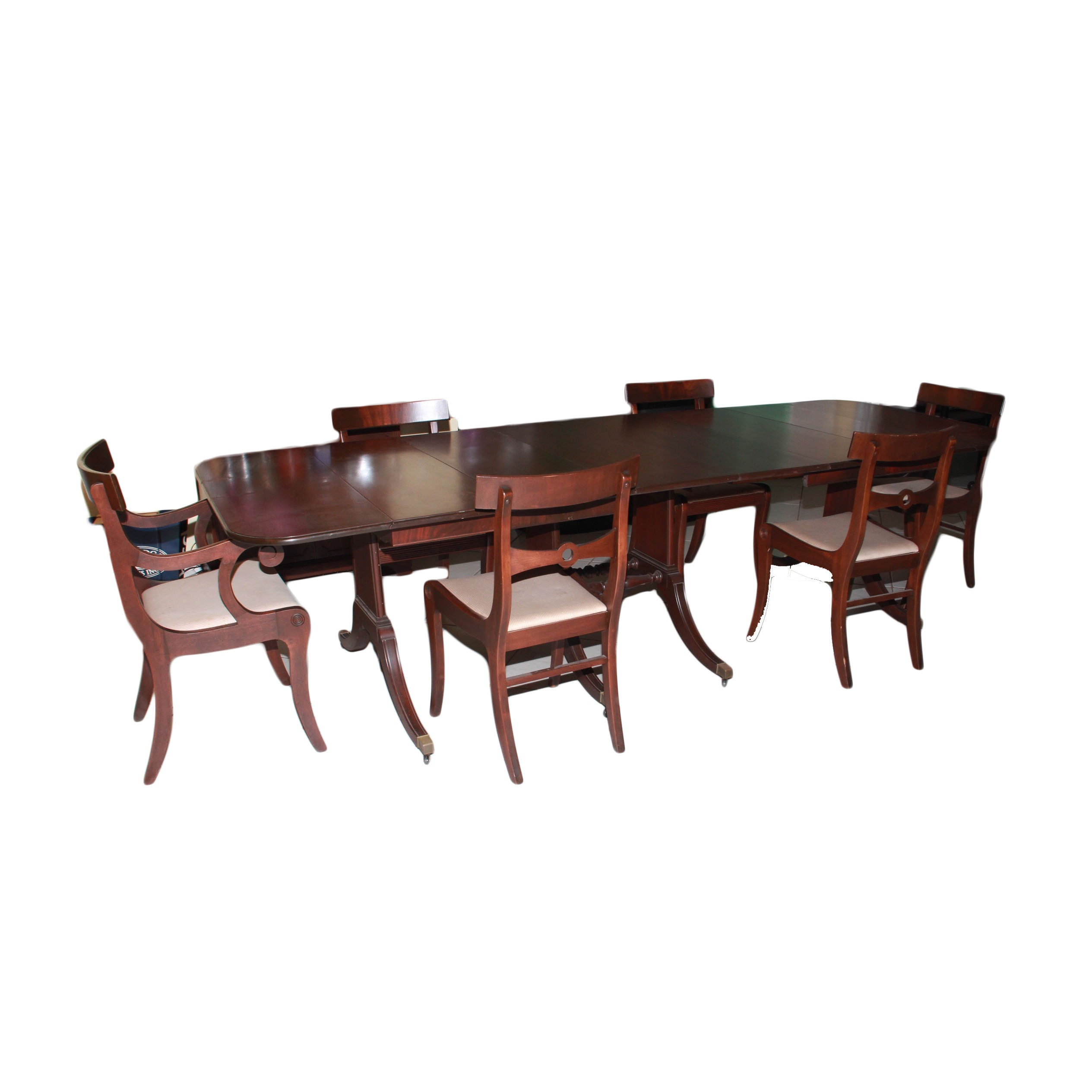Early 20th Century Duncan Phyfe Style Dining Room Set
