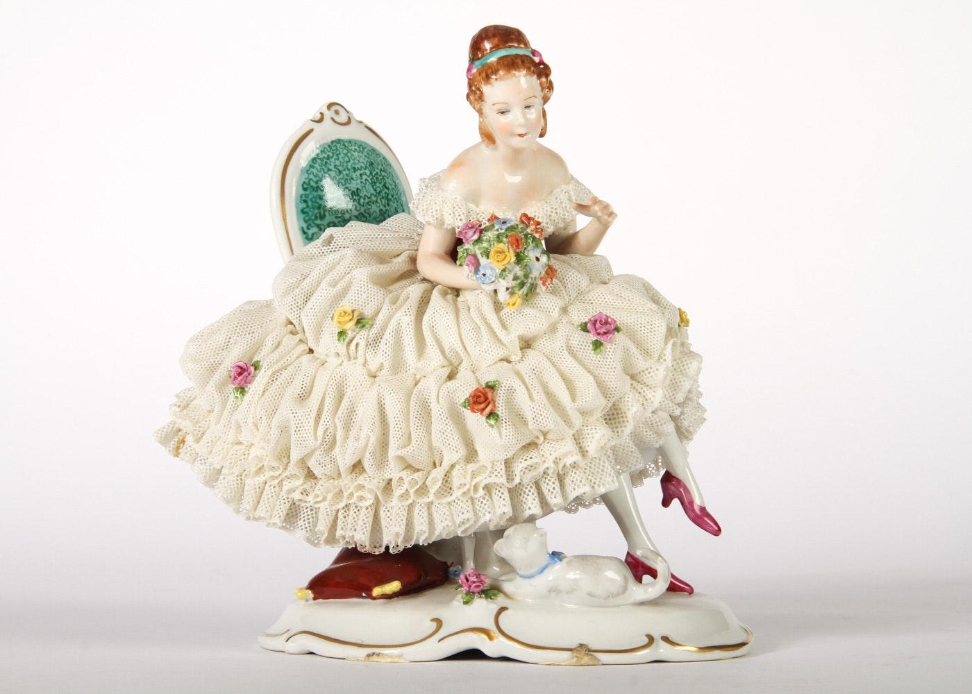 Dresden Lace Porcelain Figurine