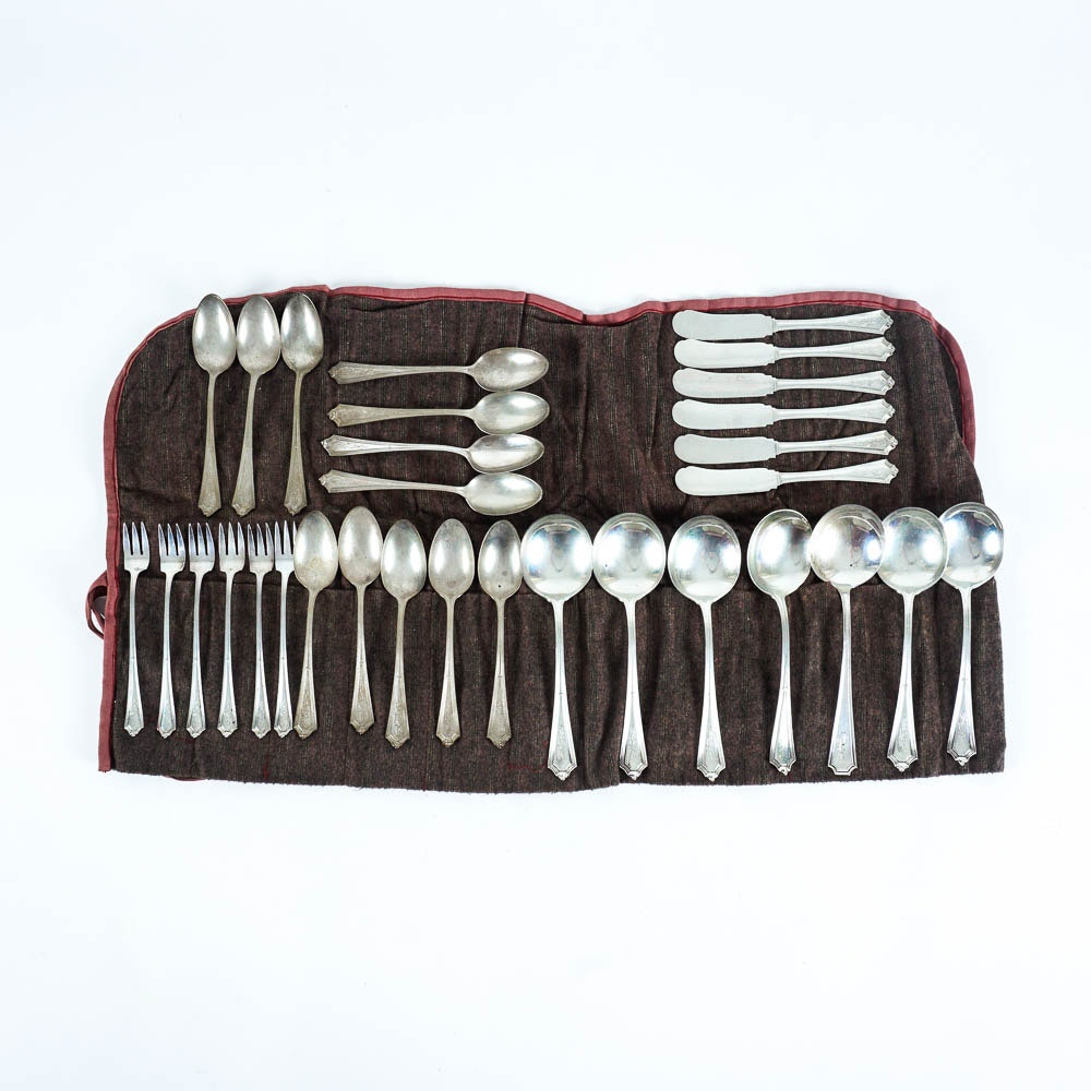 32 Piece Victor Lurch Sterling Silver Flatware Set