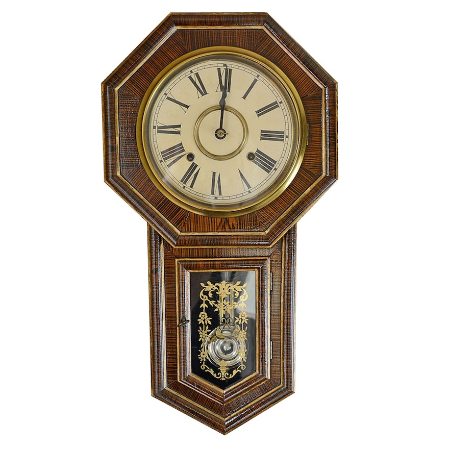 outlet store 1d814 15e30 Antique Eight Day Seikosha Japanese Wall Clock