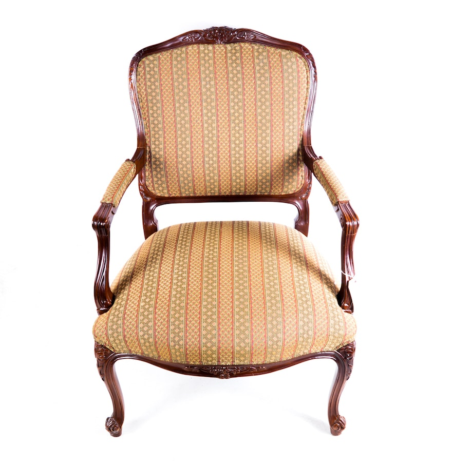 Hickory chair furniture co louis xv style fauteuil ebth - Fauteuil style louis xv ...