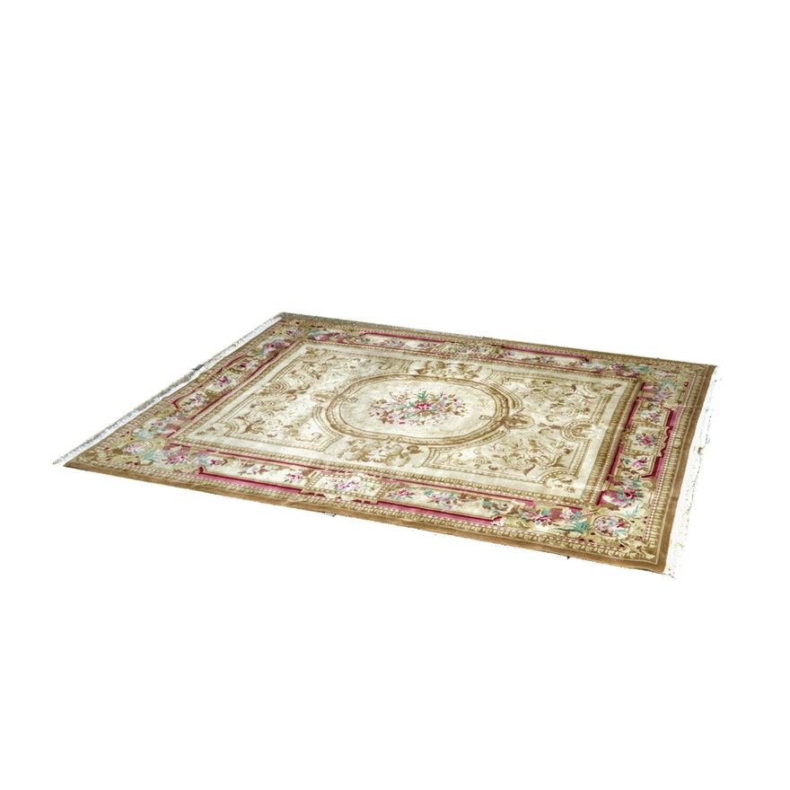 Victorian Style Area Rug In Gold Ebth