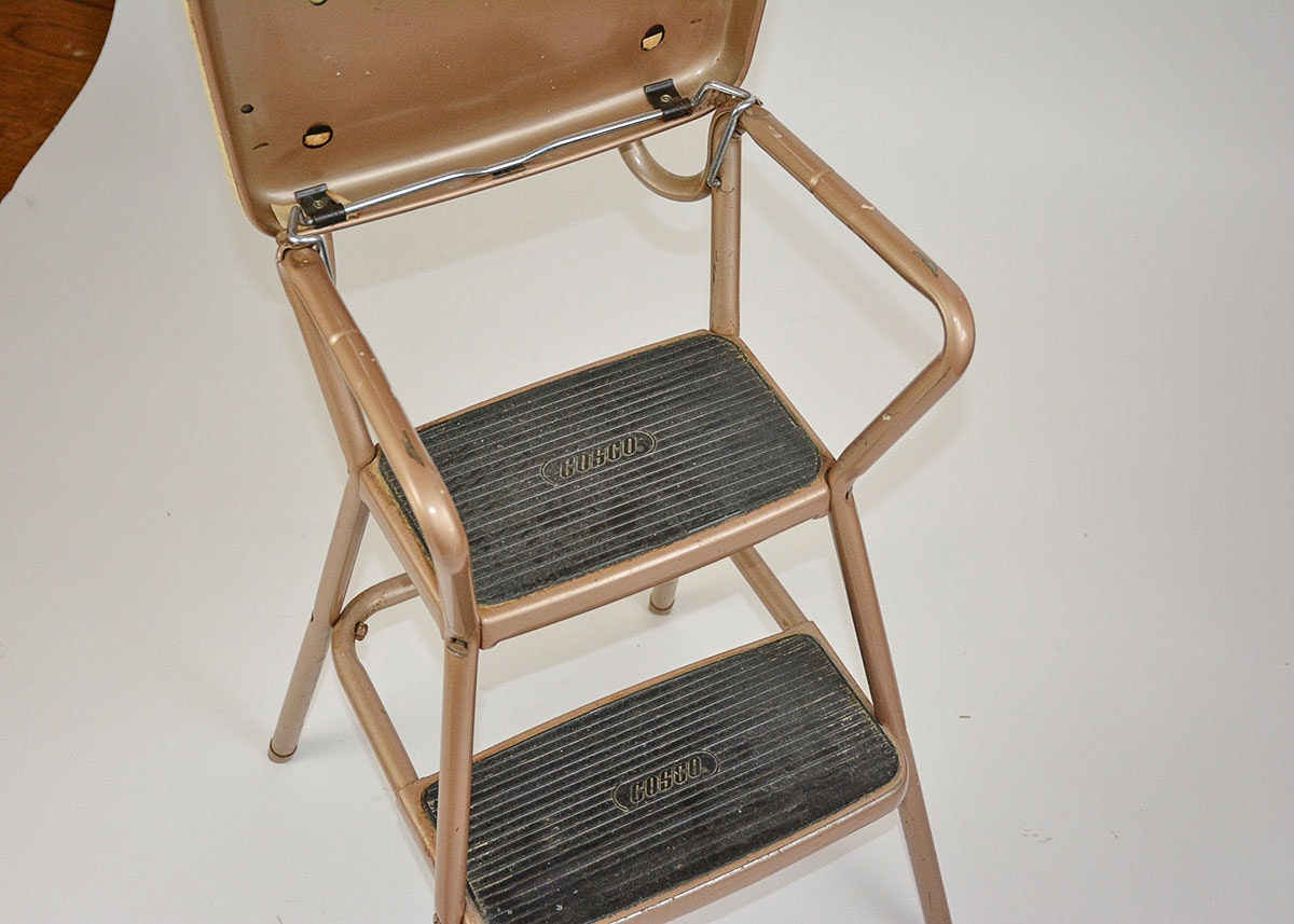 1950s Cosco Convertible Kitchen Step Stool Ebth