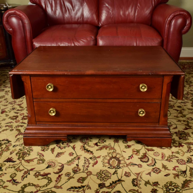 Cherry Wood Trunk Coffee Table: Cherry Stained Pine Trunk Coffee Table : EBTH