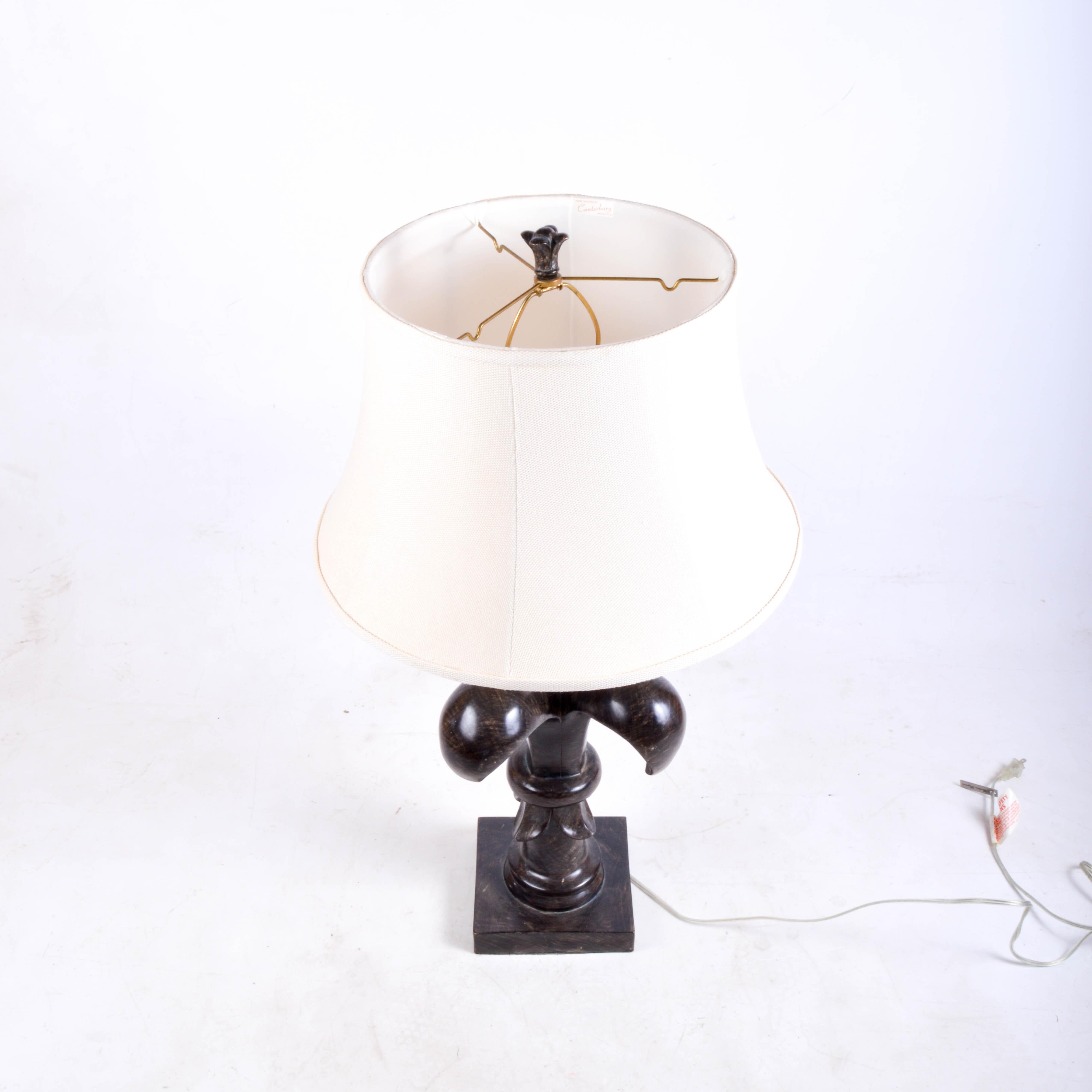 Barbara Cosgrove Fleur De Lis Table Lamp Ebth