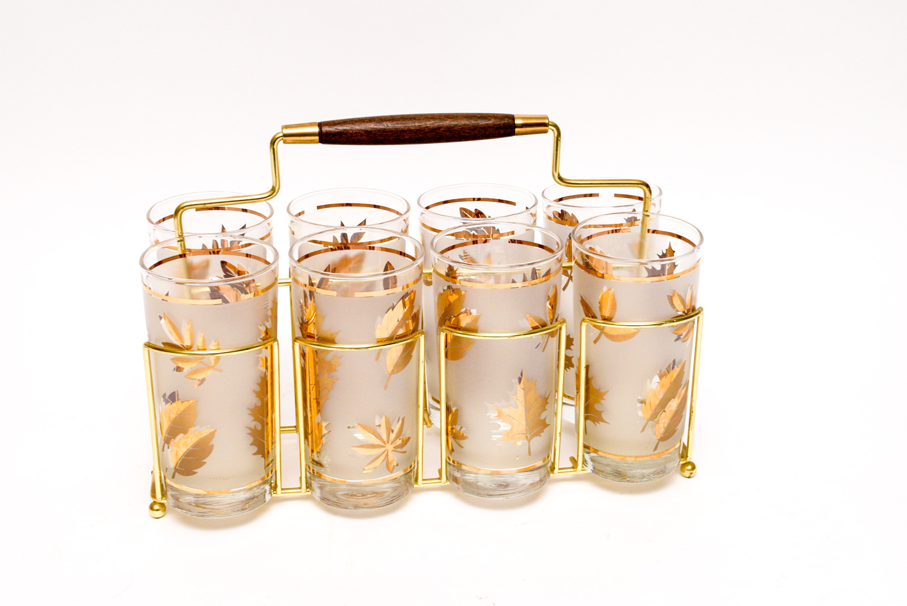Gold Toned Accent Glasses with Carrier