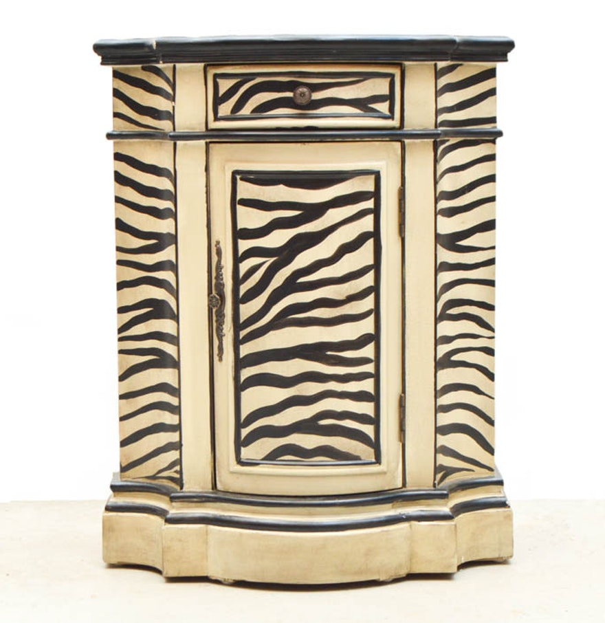 Zebra Print Cabinet Ebth