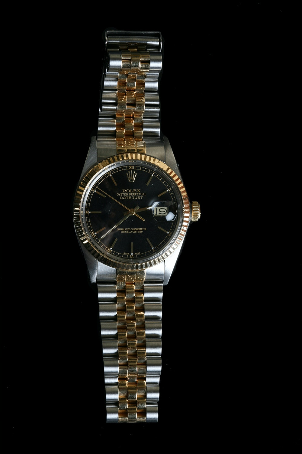 Vintage 18K Gold and Stainless Steel Rolex Datejust Watch