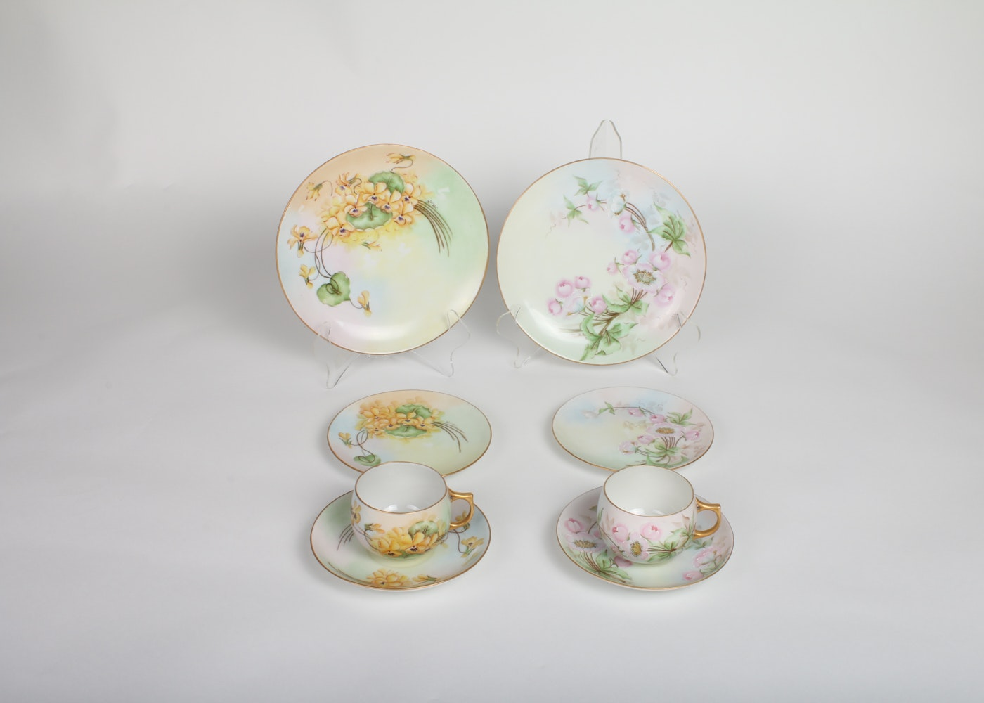 Hand-Painted China Luncheon Dishes