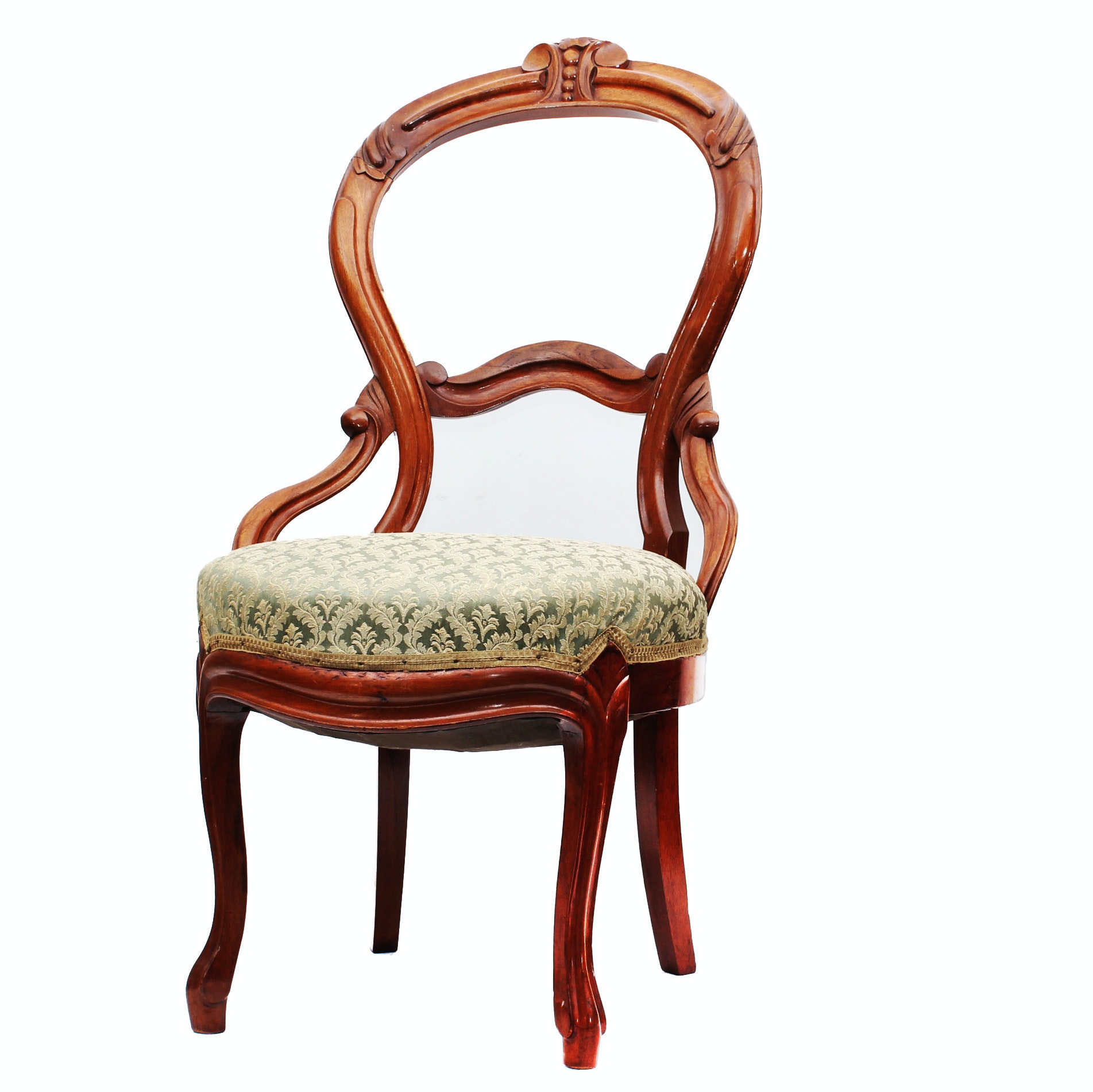 Victorian Balloon Back Parlor Chair ...