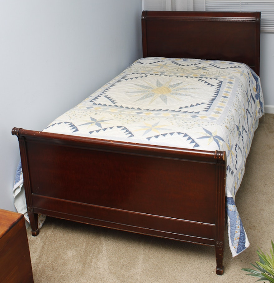 mahogany twin sleigh bed frame - Sleigh Bed Frames